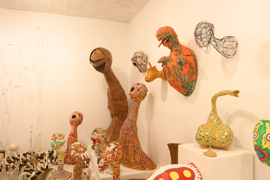 The Mixed Media Sculptures in the left corner of Gallery 3