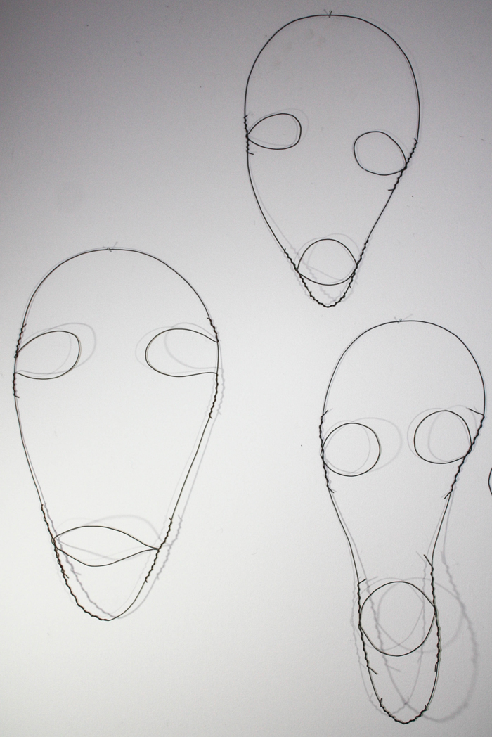 Wire Faces #101, #102, #103